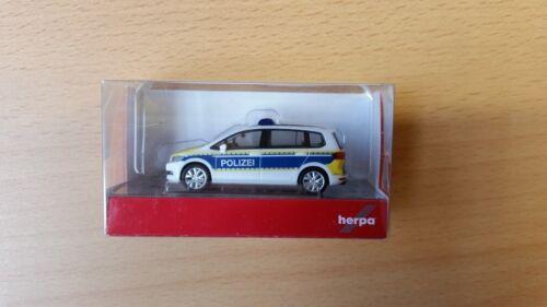 Herpa 093576-1//87 VW Touran-policía Brandeburgo-nuevo