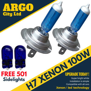 H7 100W XENON SUPER WHITE 499 HID HEADLIGHT BULBS OPEL INSIGNIA