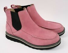 RED WING 4596 Pink Nubuck Leather Pull on Chelsea Ankle Riding Boots Women 9.5 M