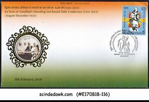 INDIA-2016-84yr-OF-GANDHI-ATTENDING-2nd-TABLE-CONFERENCE-COVER-WITH-SP-CANCL