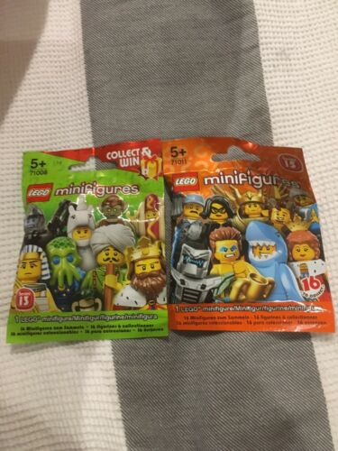 Lego Minifigure Series 13 Hotdog Guy series 15 shark guy New /& Sealed