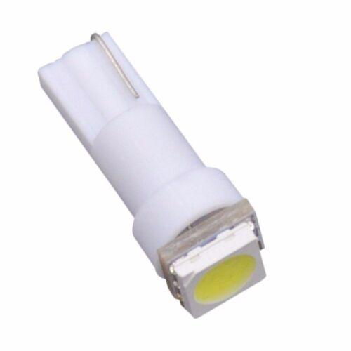 10Pcs T5 PC74 2721 White LED Instrument Dash Cluster Indicator Light W// Sockets