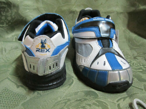 Stride Rite Toddler Boy Star Wars Captain Rex White Royal Blue Athletic Shoes