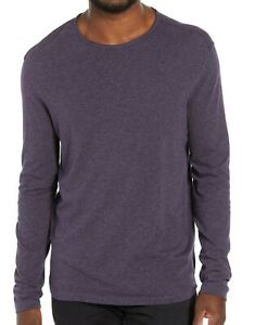 John-Varvatos-Star-USA-Men-039-s-Long-Sleeve-Raw-Cut-Edge-Crew-Tee-Shirt-Plum