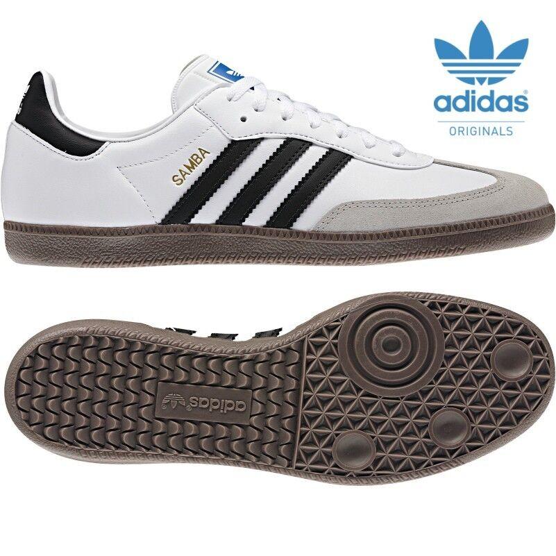 Adidas Adidas Adidas ORIGINALS Samba weiß   schwarz Klassiker Turnschuhe  Größen 6 bis 12 5615c7