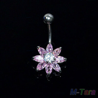 New Dangle Belly Button Rings Crystal Rhinestone Jewelry Navel Bar Body Piercing