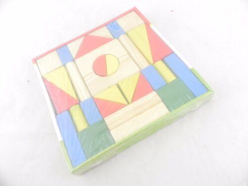 costruzione legno massello 31 blocco pezzi colorati gioco didattico costruttivo