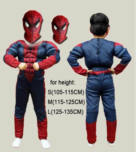 Christmas Boys Muscle Super Hero Captain America SpiderMan Batman Hulk Costume
