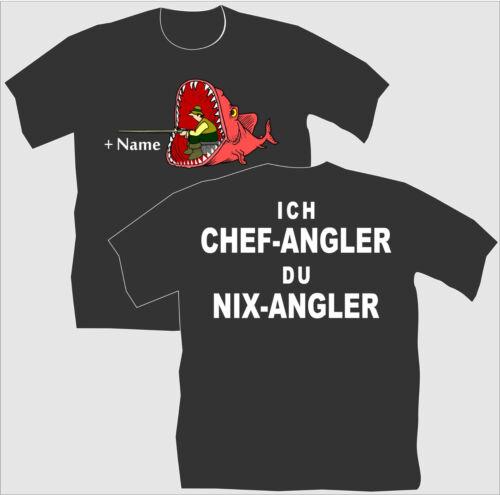 Angelsport Anglershirt Angler T-Shirt Chefangler Geburtstag Geschenk Angeln Kindershirt 99 Bekleidung