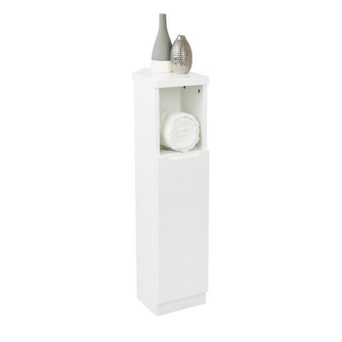 Grey White Gloss Corner Storage Unit Cabinet Cupboard Shelf Bathroom Furniture