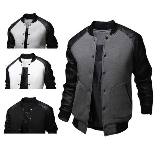 CASUAL JACKET Fashion Men Custom Letterman Baseball Coat College Jacket