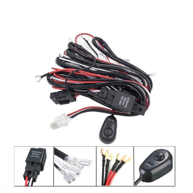 12v40a Universal Wiring Loom Harness Kit Car Led Fog Light