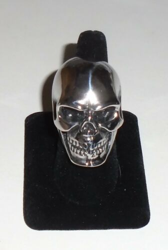 SKULL RING Biker Metal Punk Rock HUGE Stainless Steel Size 11 NEW