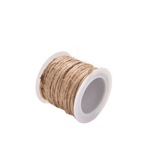 10M Twisted Burlap Hessian Jute Bow Gift Wrap String Rustic*Rope Ribbon J/&C