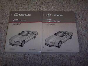1993 lexus sc400 sc 400 factory workshop shop service repair manual rh ebay com 1993 lexus ls400 repair manual pdf 1992 lexus sc400 repair manual