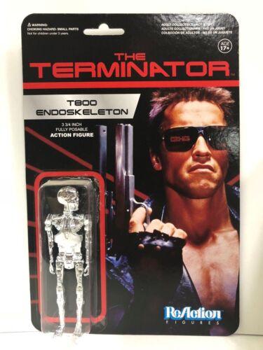 """The Terminator T800 Squelette Chrome 3.75/"""" REACTION FIGURINE Funko Super 7"""