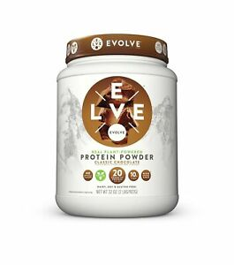Evolve Protein Powder Classic Chocolate 20g Protein 2 Pound Vegetable Based