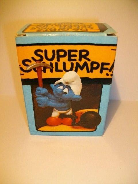 SMURF SCHLUMPF BOITE SUPER SCHTROUMPF BAGNARD 4.0213 40213  ( 2 )