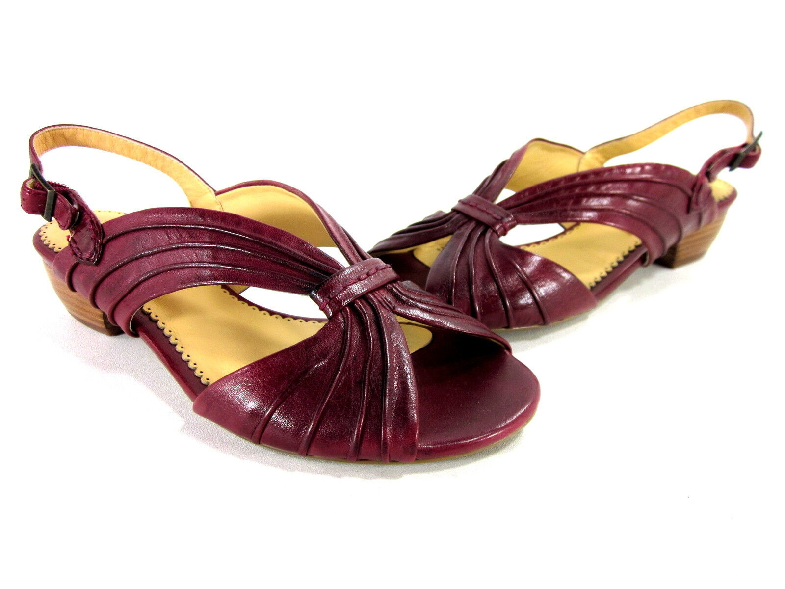 EVERYBODY MADRONE WOMEN'S SLINGBACK SANDAL ROT 37 LEATHER EUR SIZE 37 ROT US 7 MEDIUM 7fa786