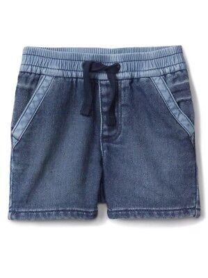 Gap Baby Boy Wearlight Pull On Denim Shorts Bottom Medium Wash Size 3-6 Months