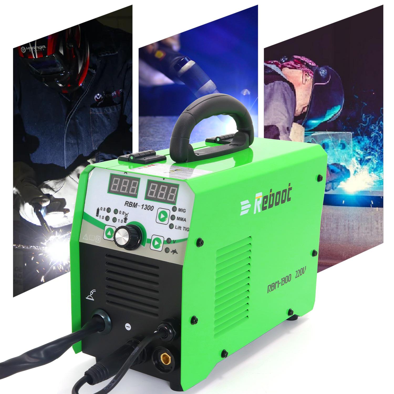 REBOOT-MIG1300 reboot201903 4 IN 1 LIFT TIG ARC MIG GAS Inverter Flux Core Wire Gasless MIG Welder Machine