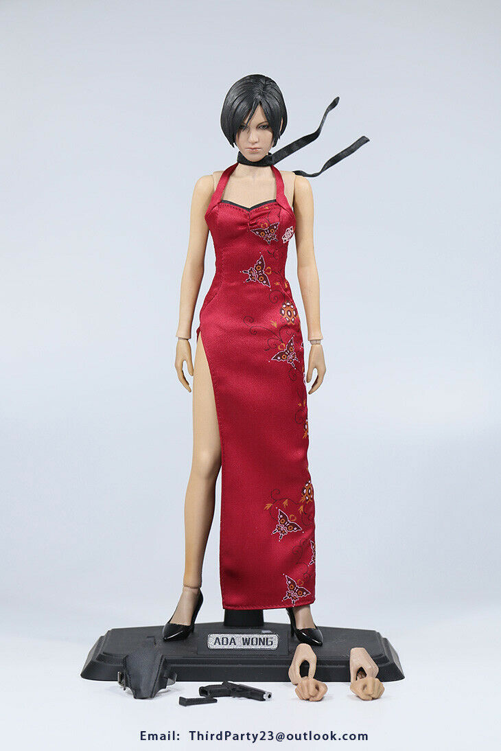 1 6 12  el tercero Marca Ada Wong ver1 Resident Evil 6 En Rojo Vestido Cheongsam
