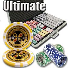 Choose Denominations 500pcs 14G ULTIMATE CASINO CLAY POKER CHIPS BULK