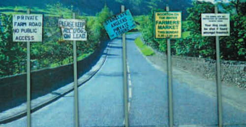 Miniscene OO Scale Assorted Countryside Signs # OOCS1