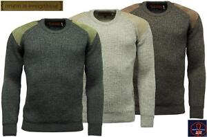 Mens-Game-Shooting-Country-Jumper-Heavy-Knit-British-Wool