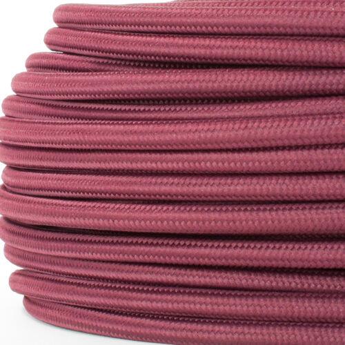 Bordeaux-Rot Textilummanteltes Kabel dreiadrig 3x0,75mm² Textilkabel für Lampe