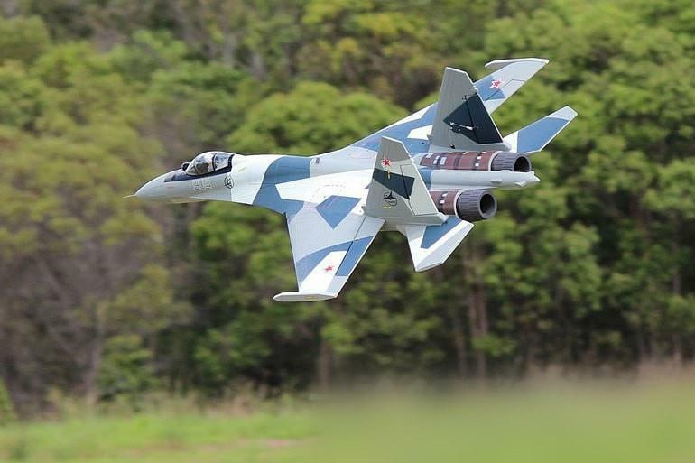Freewing SU-35 gris Camo Twin 70 MM EDF de empuje vectorial Jet-PNP