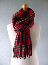 Royal Stewart tartan pashmina, red tartan blanket scarf red plaid shawl, wrap