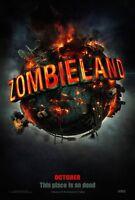 Zombieland Movie Poster 2 Sided Original Advance 27x40 Emma Stone