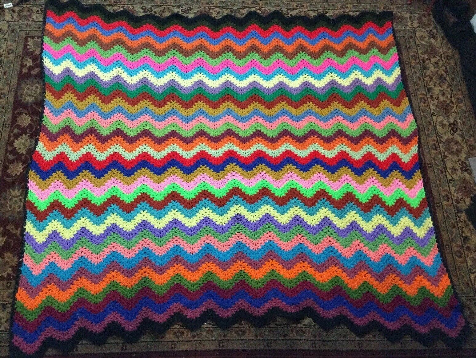 Handmade Afgan Zig Zag Multi color 60