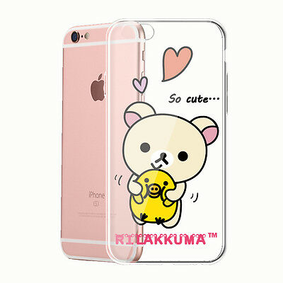 Rilakkuma Clear Case for iPhone 5 5c 5s 6 6S Samsung S7 S6 edge S5 Note LG G4 P1