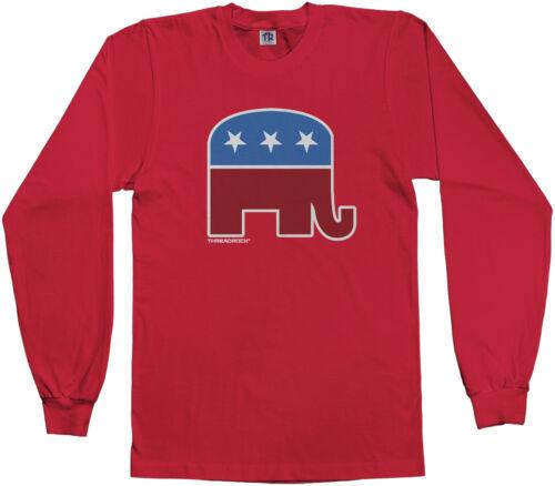 Threadrock Kids Republican Elephant Youth L//S T-shirt GOP Symbol Political USA