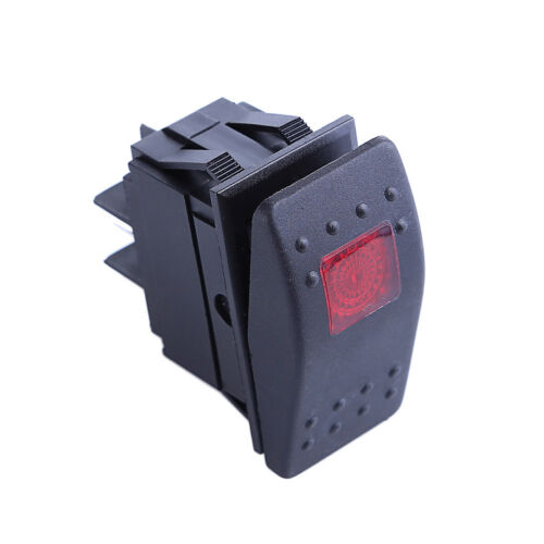 New 10 X Waterproof Marine Boat Car Rocker Switch SPST ON-OFF 4PIN 4P Red LED