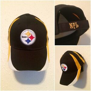 9e45a561fbd01f NFL Pittsburgh Steelers Adjustable Hat Cap. MADE IN Bangladesh. NEW ...