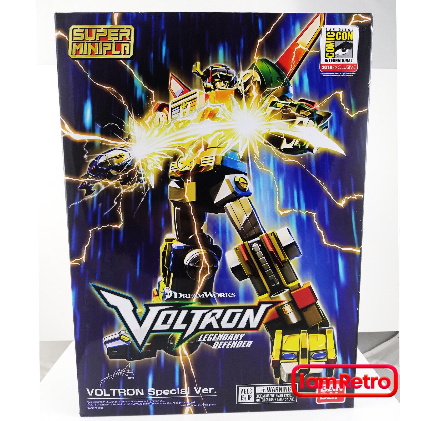 Voltron SDCC 2018 Exclusive Bandai Shokugan Super MiniPla DreamWorks Blaufin