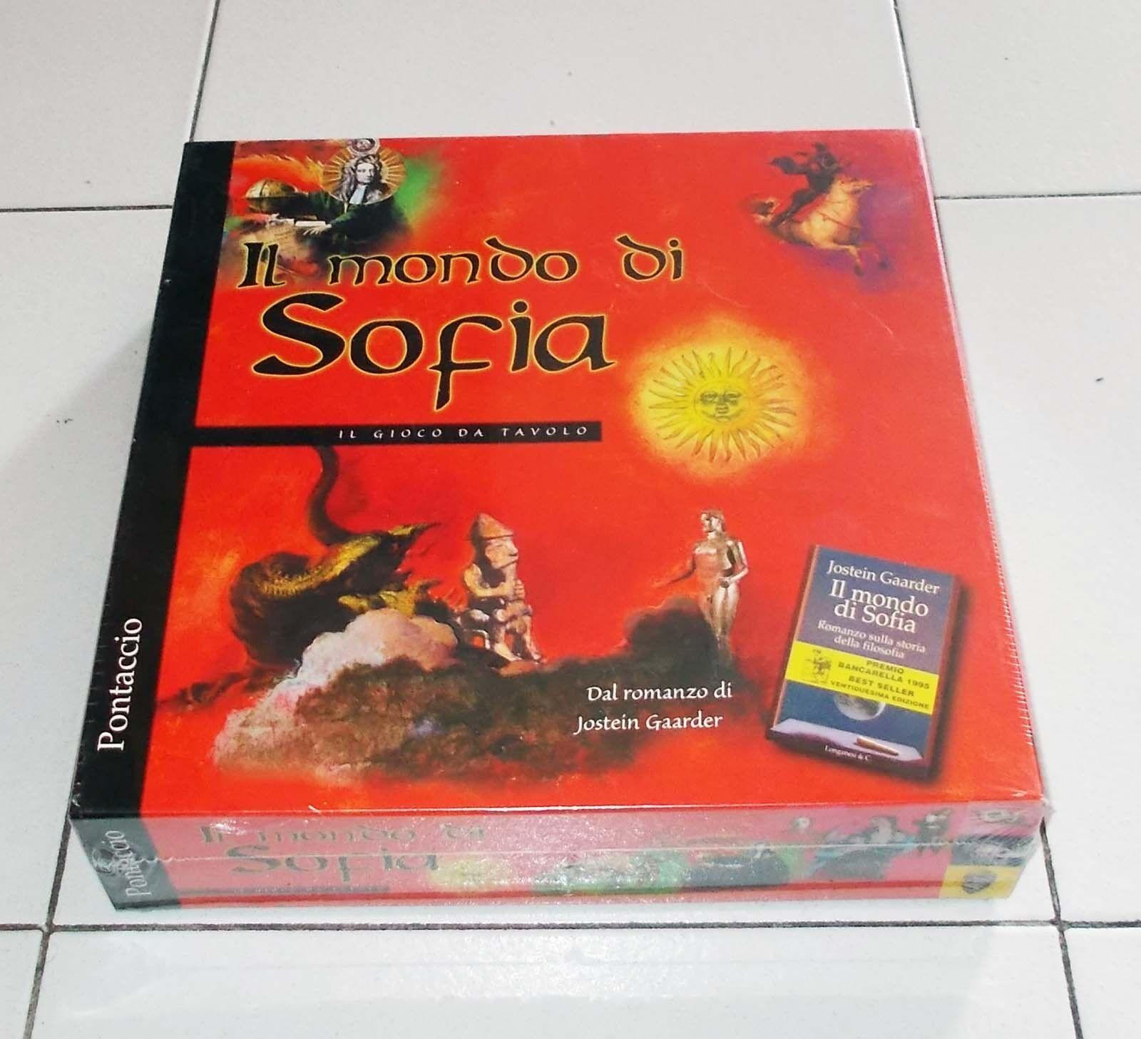 IL MONDO DI SOFIA Il gioco da tavolo  – Pontaccio 1998 Jostein Gaarder NUOVO  shopping online di moda