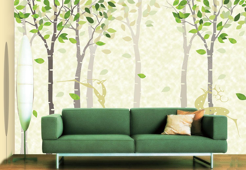 3D Schlanke Bäume 22 Fototapeten Wandbild Bild Tapete Familie Kinder