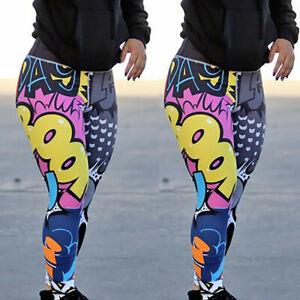 Women-Splice-Elastic-Workout-Slim-Leggings-Casual-Sport-Yoga-Pants-Long-Trousers