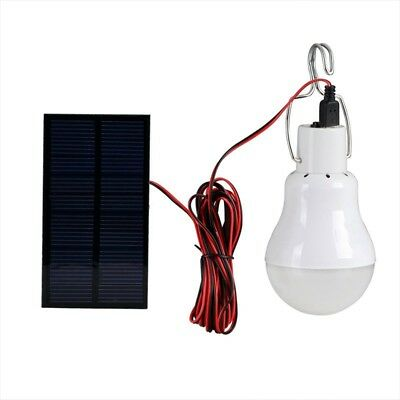 20W Solar Panel Powered LED Bulb Light Portable Outdoor Camping Energy Lamp ES