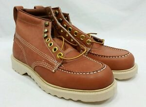 32af2d93ba7 Vintage NOS JC Penney Moc Toe Sport Hunting Birding Boots Men's Size ...