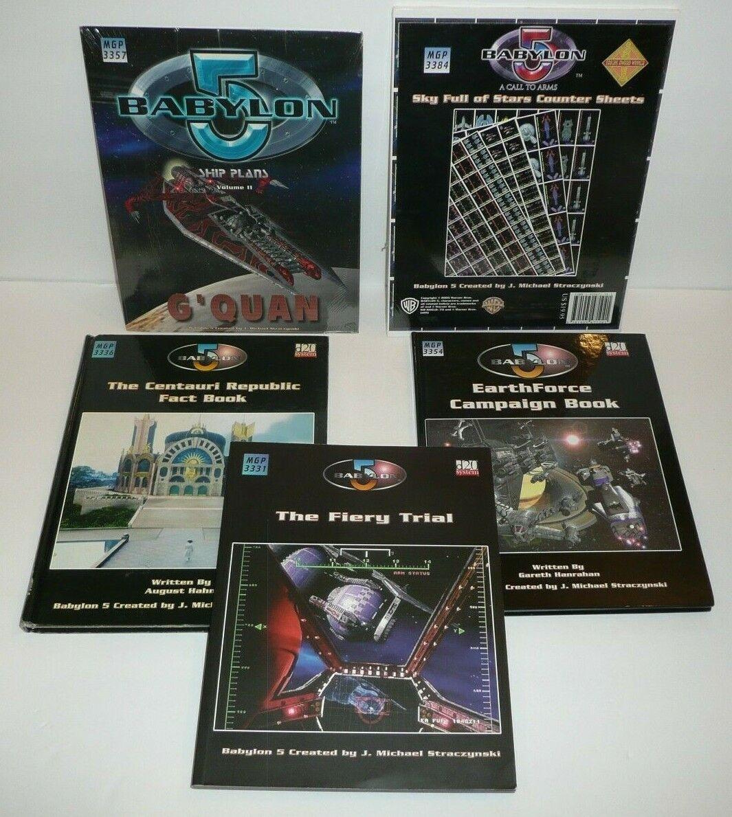 BABYLON 5 RPG Books Lot D20 Fiery Trial Earthforce Campaign Centauri G'Quan Plan