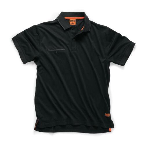 Scruffs Polo Shirt Graphite Noir Travail Haut Homme Small Medium Large XL gamme 2019