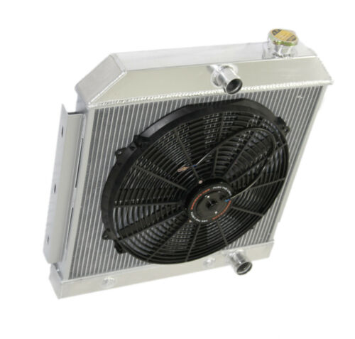 """3 Core Performance racing RADIATOR+16/"""" Fan for 55-57 Chevy Bel Air// Nomad V8 MT"""
