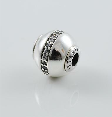 Authentic Genuine Pandora Silver Essence Collection Stability Bead 796018