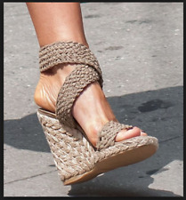 cc4ce06e8482 Stuart Weitzman Alexlo Crochet Espadrille Platform Wedge Sandal US ...