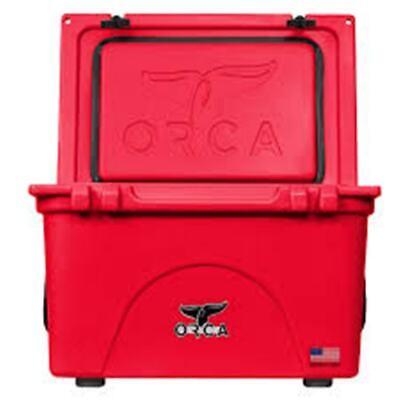 ORCA 58 QT SOLID RED COOLER LIFETIME WARRANTY